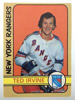 1972-73 Ted Irvine New York Rangers 212 OPC O-Pee-Chee Hockey Card P320