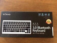 Bornd B33-Silver Wireless Bluetooth 3.0 Keyboard