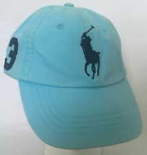 Polo Ralph Lauren Chino Baseball Cap Hammond Blue Large Polo Logo Adj Strap NWT