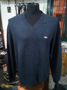 Lacoste maglione Pullover Taglia Size 7 blu