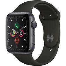 Reloj de Apple S5 5 (Gps + Celular) 44mm Gris Espacial, Aluminio, Negro Deporte Banda MWW12LL/A