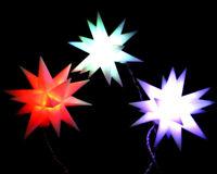 LED-Adventsstern 3x kleine Sterne für Batterie Farbwechsel Stern Weihnachtsstern