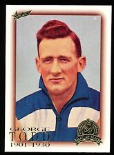 1996 Hall of Fame No. 31 George Todd Geelong Cats card