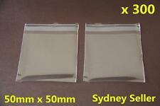 300x Self Adhesive Self Seal Resealable Clear Plastic Cellophane Bags 5x5cm New