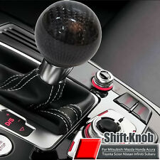Carbon Fiber 5 6 Speed MT Shift Knob Black Fit Manual Transmission Gear Shifter