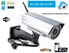 IP CAM 24 LED IR TELECAMERA IP CAMERA P2P COLORI WIRELESS LAN CMOS IPCAM WIFI