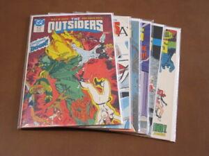 OUTSIDERS #23 - 28 FN-VF COMPLETE RUN 1987 DC COMICS BLACK LIGHTNING BATMAN
