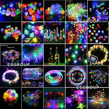 10-500 LED RGB Fairy String Light Christmas Xmas Wedding Garden Party Decor Lamp
