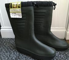 Unisex Fur Lined Polar Wellington Boots Size12