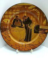 Royal Doulton Plate Monk Friar Decorative Brown Market Fish Barrel Vintage