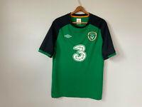 Ireland Home Training Green Umbro Football Soccer Jersey Shirt #3 Mens Large