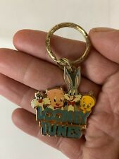 Vintage Looney Tunes Keychain: 1989-bugs Bunny- Tweety-Sylvester-porky Pig