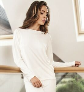 Sulis ladies pure 100% silk ribbed jersey long sleeved T shirt made in England