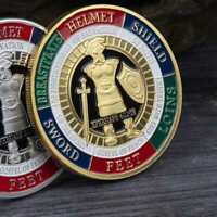 New Put On the Whole Armor Of God Commemorative Challenge Coin Collection AAA