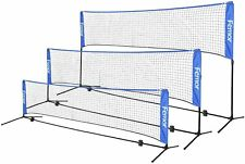 10/14/17FT Portable Badminton Volleyball Tennis Net Set with Stand/Frame Bag
