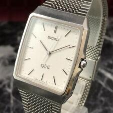 Vintage 1992 SEIKO spirit 5E31-5A70 Men's Dress Quartz Watch from Japan #160