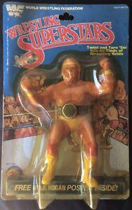 1985 LJN Wrestling HULK HOGAN Rookie Figure With Championship Belt WWF WWE MOC