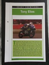 Tony Elias grandes campeones coleccionista Archivo hoja informativa.
