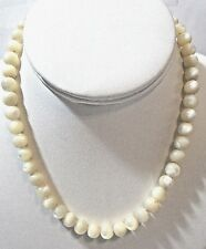 MOTHER OF PEARL SEASHELL SHELL ROUND BEADED NECKLACE VINTAGE