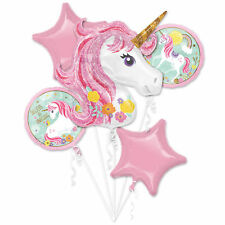 Magical Unicorn Combo Balloon 5pc Foil Birthday Party Bouquet