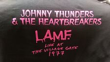 JOHNNY THUNDERS and The HEARTBREAKERS L.A.M.F.  T-SHIRT SIZE Medium Rock n Roll