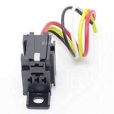 3PCS - 12V car relay socket DC  4pin or 5pin Automotive Relays holder