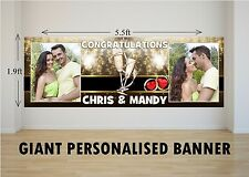 Personalised GIANT Large Congratulations Wedding Engagement Mr & Mrs Banner N35