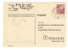 Germany SOVIET ZONE-G.D.R.-SEARCG SERVICE CARD-TYPE II-HG:4-HALLE (Salle) 31/
