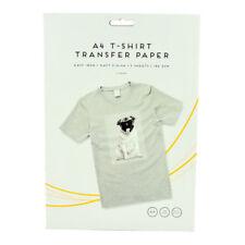 NEW A4 T-Shirt Transfer Paper A4 Iron On T-Shirt Light Fabric Transfer Sheet