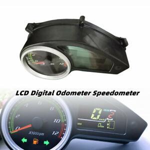 1X Universal Motorcycle LCD Digital Odometer Speedometer Tachometer Gauge Meter