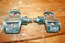 "Vintage Time 9/16"" Spindle Clipless Road Bike Cycling Pedals rough shape"