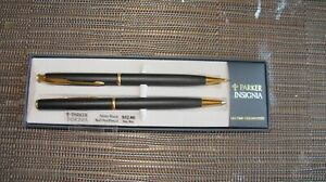 NEW OLD STOCK PARKER INSIGNIA MATTE BLACK PEN AND PENCIL SET