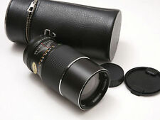 Auto Chinon  200mm 3.5 Telephoto  M42 fit to eos with adapter and case