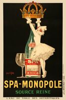 Spa-Monopole Source Reine by Jean d' Ylen Art Print Vintage Advertisement Poster