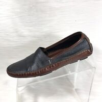 Bragano Men's Loafers Moc Toe Driving Shoes Brown/Black Leather Size 8 M