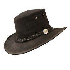 BARMAH Foldable Suede Bush Hat Akubra Style 2 Colors Sz S-2xl 100 Aust Made Chocolate M 57cm
