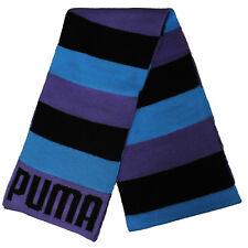 Puma Unisex Hombre Mujer Bufanda Tejida Negro Morado Azul 052136 03 P5