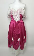 Vintage Loralie Prom Dress 5/6 Pink Ruffle Lace Southern Belle 80s 90s Party