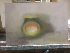 "MARMITE Original Oil Painting on board Still Life Marmite jar  8"" x 12"""