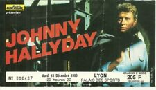 RARE / BILLET TICKET DE CONCERT - JOHNNY HALLYDAY : LIVE A LYON ( FRANCE ) 1990