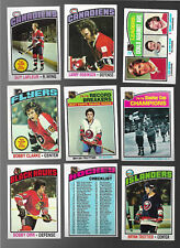 1976-77 TOPPS HOCKEY COMPLETE SET OF 264 EXCELLENT/MINT TROTTIER ROOKIE &ORR