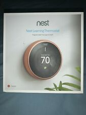 Nest 3rd Generation Learning copper Programmable Thermostat used