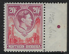 NORTHERN RHODESIA : 1950 GVI 20s carmine-red and rose-purple SG 45  MNH