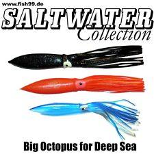 3 Riesen Octopusse 31 / 40 cm für Groß Leng und Heilbutt - Vorfächer