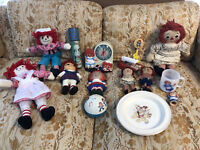 RAGGEDY ANN & ANDY VINTAGE COLLECTIBLES (ENTIRE COLLECTION)