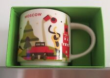 14oz Starbucks RUSSIA MOSCOW You Are Here YAH Series Mug With Box NEW RARE WHTF