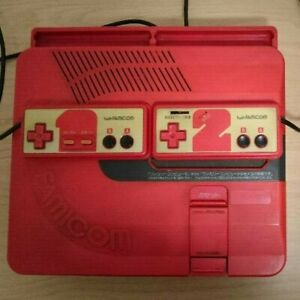 Sharp Twin Famicom Red Console Famicom Disk System used