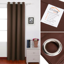 "Thermal Insulated BLACKOUT Curtain Grommet 1 Panel Length 63 84 96"", 7 Colors"