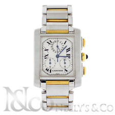 Cartier Tank Francaise Chronoflex 29 mm Two Tone 18K Yellow Gold SS Watch