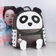Women Leather Backpack Cute Cartoon Panda School Bags Teenagers Girls  Backpacks